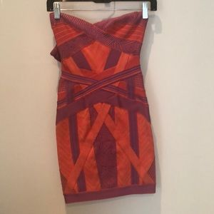 Herve Leger multicolored mini dress